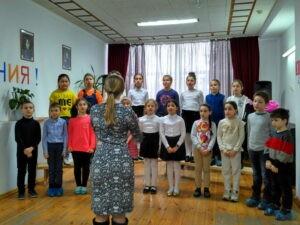 Прослушивание хоровых коллективов школы