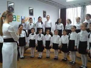 Прослушивание младшего хора школы